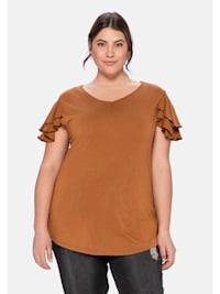 T-Shirt mit Flügelärmchen