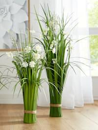 Buisson d'herbe avec fleurs