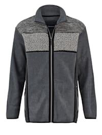 Fleece vest met luxueuze gebreide inzet