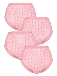 Midjetrosor i 4-pack med sött mönster