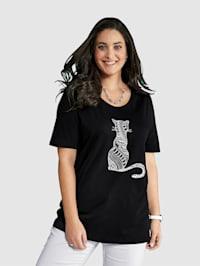 Shirt mit Katzenmotiv