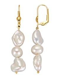 Boucles d'oreilles à perles de culture d'eau douce