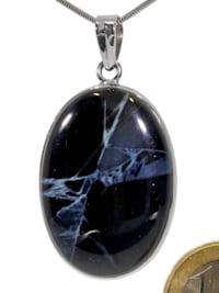 Spiderweb Obsidian Anhänger 925 Silber