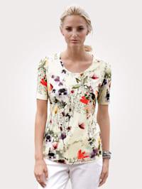 T-shirt à motif floral