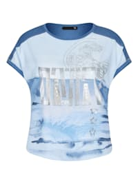 Shirt mit Glitzerdetails und überschnittenen Schultern