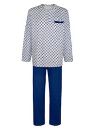 Schlafanzug aus mercerisierter Baumwolle