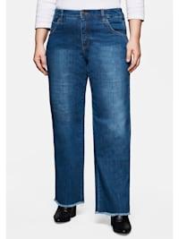 Jeans »Die Weite« mit Fransensaum