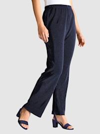 Pantalon plissé à taille entièrement extensible