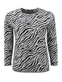 Langarmshirt im Zebra-Look .