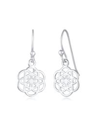 Ohrringe Hänger Blume Des Lebens Ornament 925 Silber