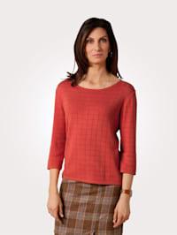 Pullover mit Ajour-Karo