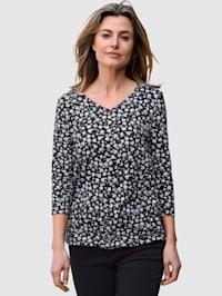 T-shirt à imprimé floral devant et dos