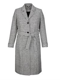 Kabát s klasickýmGlencheck vzorom