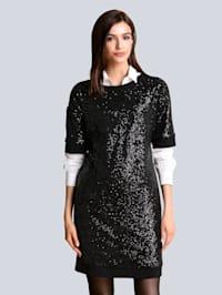 Sweat šaty s flitrovým zdobením