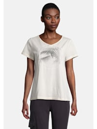 Halbarm-Shirt mit V-Ausschnitt