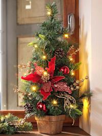 Kerstboompje met led-lampjes