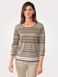 Pullover mit Struktur-Ringel