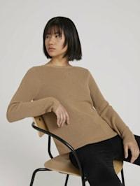 Ripp Pullover mit Bio-Baumwolle