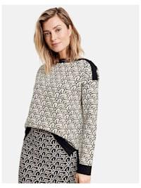 Pullover mit Kontrastmuster