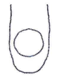 2-delige sieradenset met saffieren