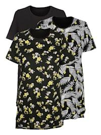 Chemises de nuit par lot de 3 à motifs floraux imprimés