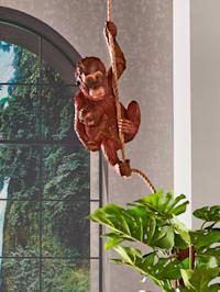 Orangutan mit jungen am Seil