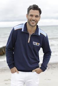 Sweatshirt in hochwertiger Verarbeitung