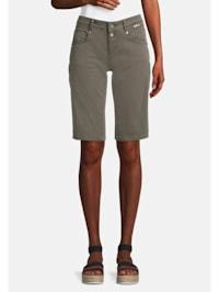 Jeans-Shorts mit Eingrifftaschen Colored denim