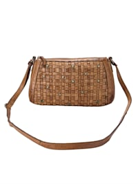 Shoulder bag made from tanned natural leather
