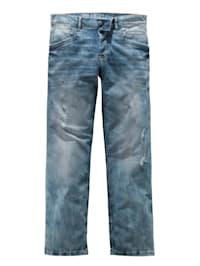 Jeans med slitna detaljer