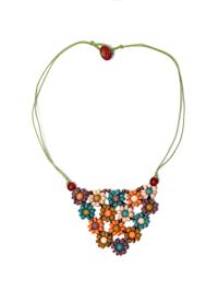 Öko Halskette Flower mit plastikfreiem Versand
