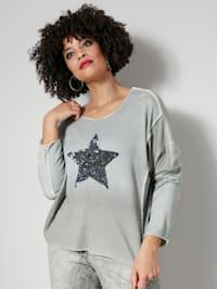 Pullover mit modischem Pailletten Stern