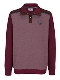 Sweatshirt met beleg in velourslook