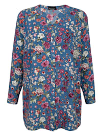 Bluse med blomsterprint