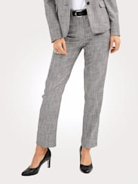Trousers with shimmering thread