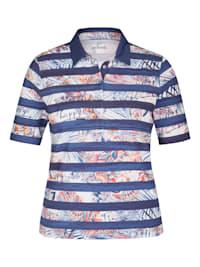 Shirt mit geringeltem Muster und halblangen Ärmeln