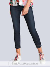 Jeans 'Ava S' im Alba Moda Exklusiv-Dessin