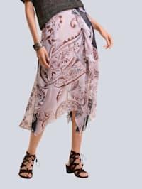 Rok met exclusieve Alba Moda print