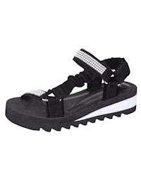 Sandaaltje in bandjeslook met strassteentjes