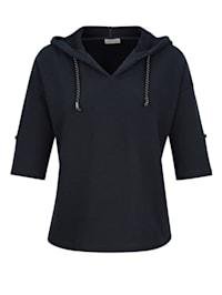 Shirt aus sportiver Strukturware