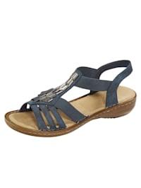 Sandaler med dekorativ applikation