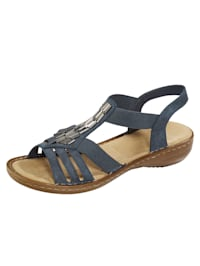 Sandals with chic beading