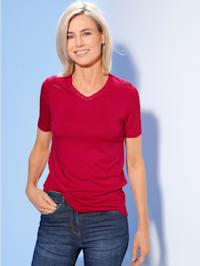 Shirt Mit Rosenspitze im Ausschnitt