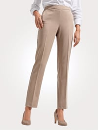 Pull-on trousers with front creases