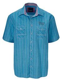 Overhemd met twee sluitbare borstzakken