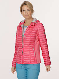 Jacket with elasticated insert