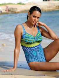 Badeanzug in sommerlichen Farben