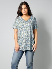 Shirt mit femininem Blumenmuster