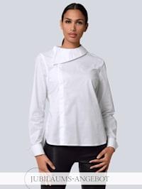 Bluse mit breitem Umlegekragen