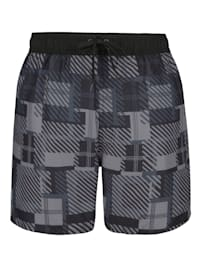Koupací šortky s módním károvaným vzorem
